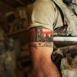 halfsleeve military tattoo design