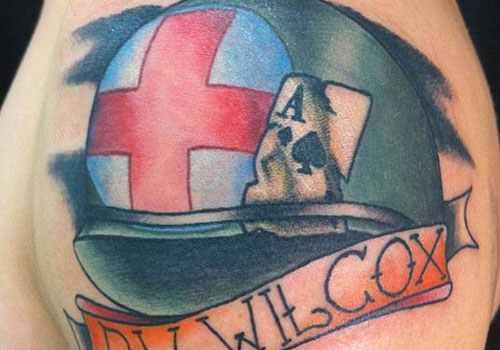 helmet military tattoo design