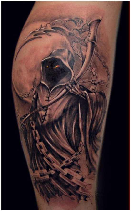 horrifying grim reaper tattoo - Design of TattoosDesign of ...