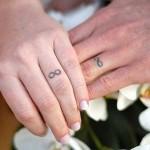 cute infinity wedding ring tattoo design