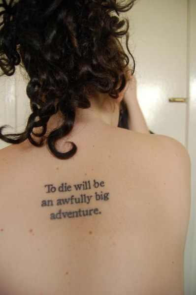inspirational quote tattoo design