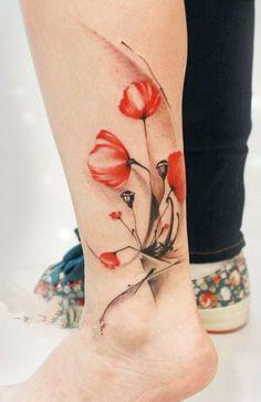 leg poppy tattoo design of tattoosdesign of tattoos. Black Bedroom Furniture Sets. Home Design Ideas