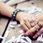 gorgeous wedding ring tattoo design