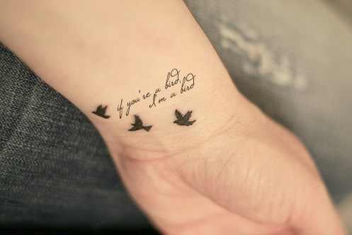 movie quote tattoo design