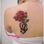 rose tattoo design for women
