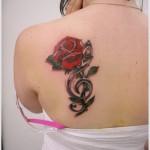 rose tattoo design for women
