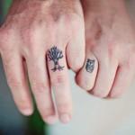 owl wedding ring tattoo design