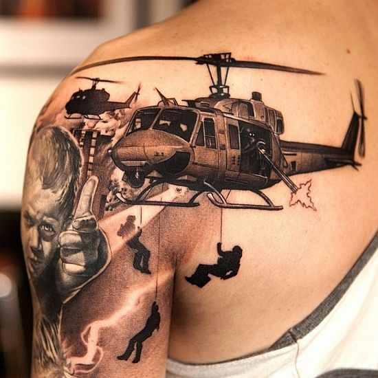 philip michael military tattoo design