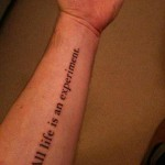 quote tattoo design on arm