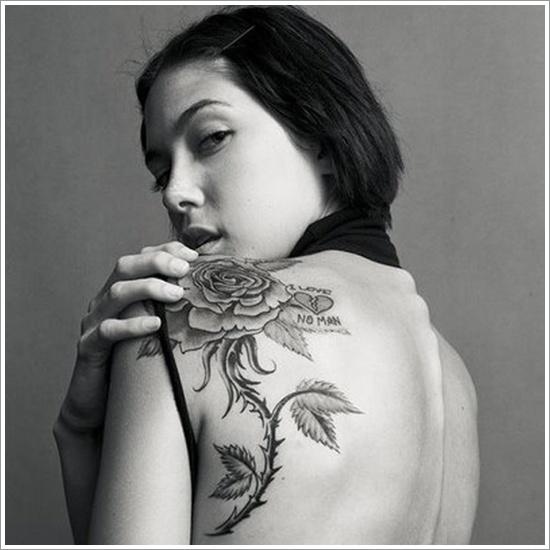 romantic rose tattoo design