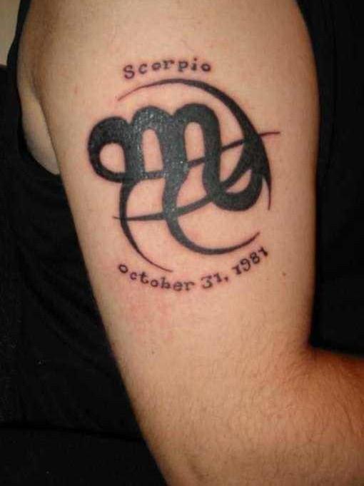 scorpio zodiac tattoo design