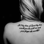 back quote tattoo design