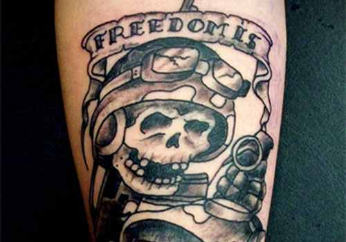 spooky military tattoo design