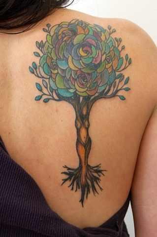 unique tree tattoo