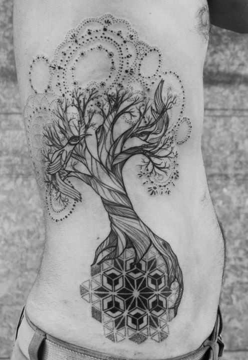 wonderful tree of life tattoo design