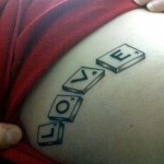 words love tattoo design