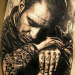 Andy Engel portrait tattoo design