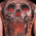 Niki Norberg amazing skull tattoo