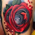 Andres Acosta awesome rose tattoo design