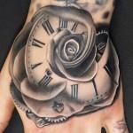 Andres Acosta black rose tattoo