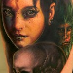 Andy Engel colorful portrait tattoo
