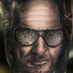 Andy Engel colorful portrait tattoo design