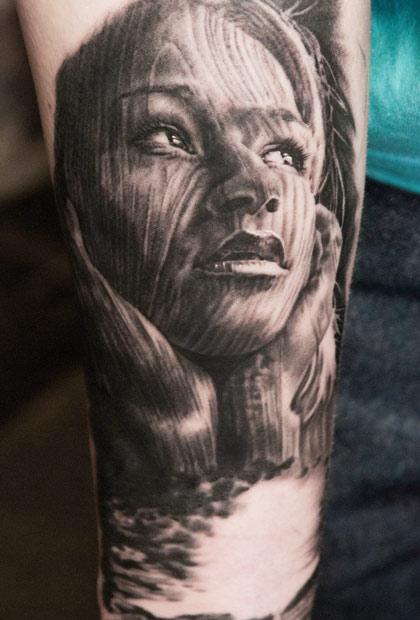 Andy Engel creative portrait tattoo