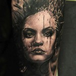 Andy Engel full sleeve portrait tattoo