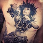 Carlos Torres girl portrait tattoo