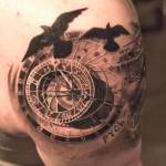Niki Norberg half sleeve tattoo