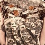 Niki Norberg mindblowing full back tattoo