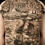 Niki Norberg realistic full sleeve tattoo