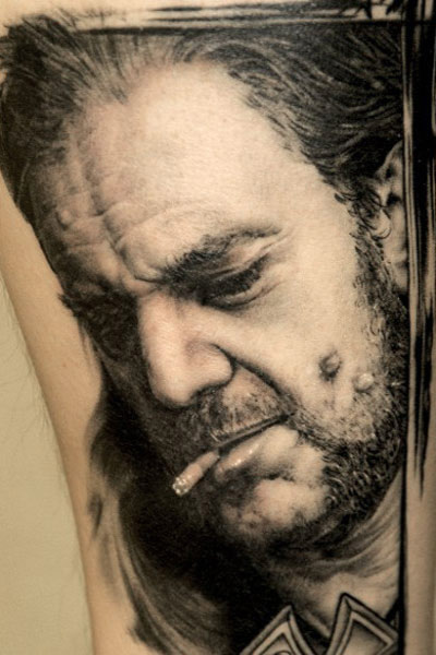 Andy Engel realistic portrait tattoo