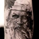 Niki Norberg realistic portrait tattoo design