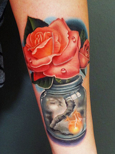 6c659601180 red rose tattoo design by Andres Acosta - Design of TattoosDesign of ...