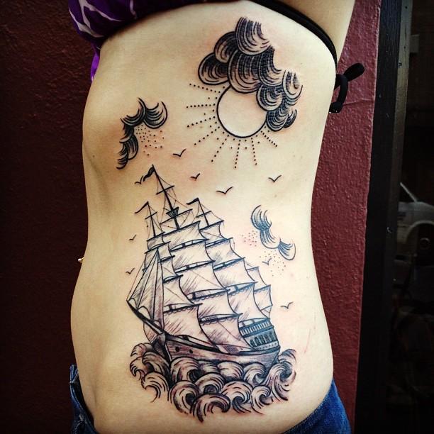 rib tattoo by matt houston design of tattoosdesign of