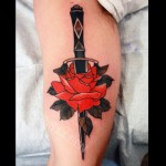 Cris Cleen black and red rose tattoo design