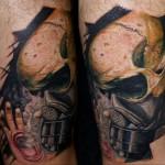 Csaba Kolozsvari amazing skull tattoo