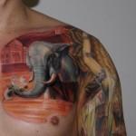Csaba Kolozsvari beautiful elephant tattoo