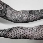 Chaim Machlev beautiful patterned full sleeve tattoo