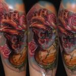 Csaba Kolozsvari closck tattoo design