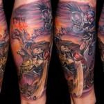 Csaba Kolozsvari detailed full sleeve tattoo