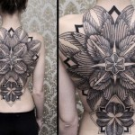 Chaim Machlev detailed full back tattoo