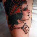 Cris Cleen fashionable portrait tattoo