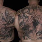 Csaba Kolozsvari black full back tattoo