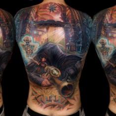 Csaba Kolozsvari large scale tattoo