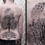Chaim Machlev full back tree tattoo