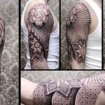 Chaim Machlev geometrical tattoo design