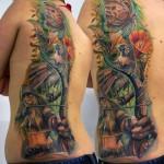 Csaba Kolozsvari half back tattoo design