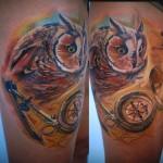 Csaba Kolozsvari owl tattoo design